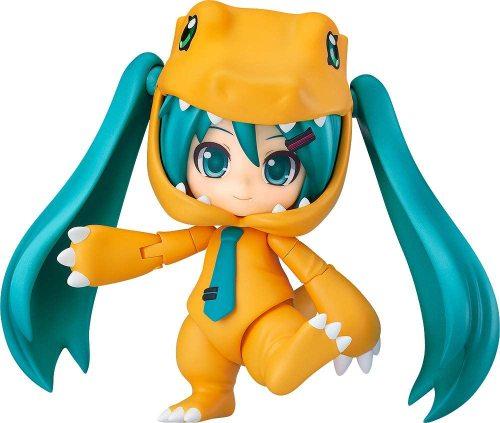 Good Smile Character Vocal Series 01: Hatsune Miku/Digimon Adventure (Kigurumi Agumon Version) Nendoroid Action Figure