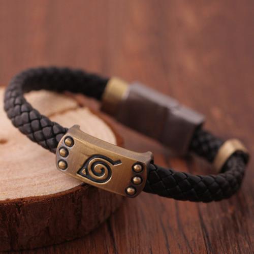 Anime Naruto Knit Bracelet Cosplay Costumes Accessories Props Black Punk Bracelets