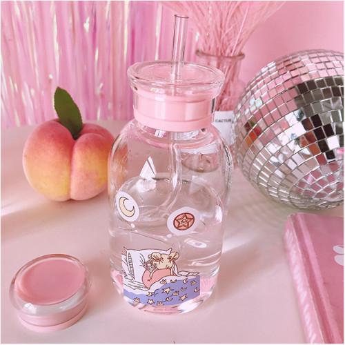 Anime Sailor Moon Usagi Tsukino Glass Portable Bottle