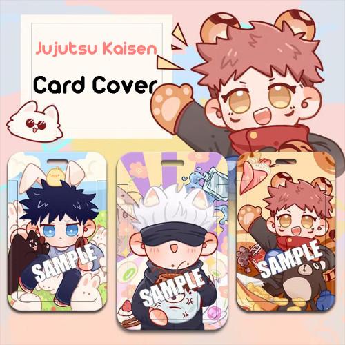 Anime Jujutsu Kaisen Gojo Satoru Yuji Itadori Megumi Fushiguro Cute Card Cover