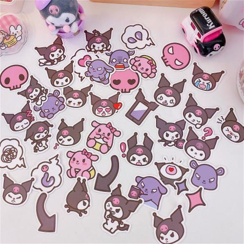40Pcs Kuromi Cute Stickers DIY Kawaii Laptop PVC Waterproof Stickers
