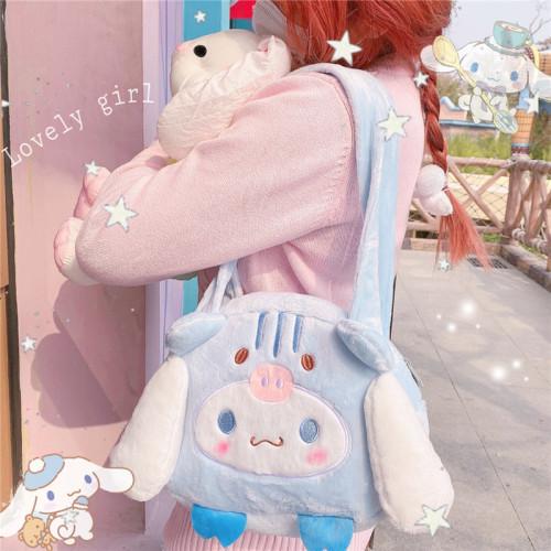 Melody Cinnamoroll Kuromi Cute Shoulder Bags JK Plush Crossbody Bag Kawaii Handbags