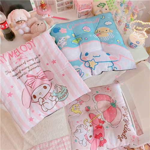 Cute Cinnamoroll Melody Little Twin Stars Soft Fabric Seat Cushion