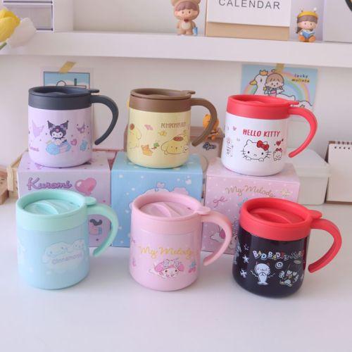 Cute Melody Kuromi Cinnamoroll With Handle 304 Stainless Steel Mug