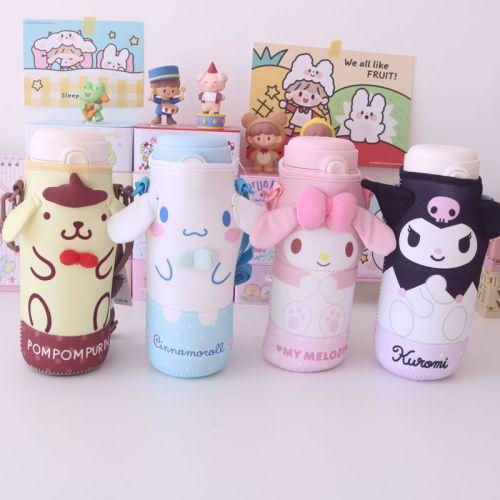 Kawaii My Melody Pom Pom Purin Cinnamoroll Kuromi Protective Sleeve Bottle Holder