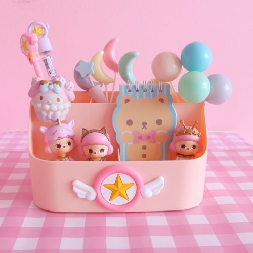 Anime Cardcaptor Sakura Kawaii Desktop Storage Box Cosmetics Cartoon Storage Box
