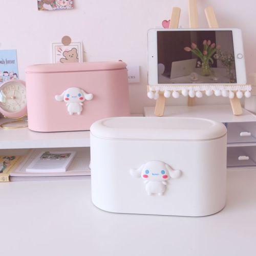 Cute Cinnamoroll Desktop Trash Can Mini Waste Basket Storage Bucket