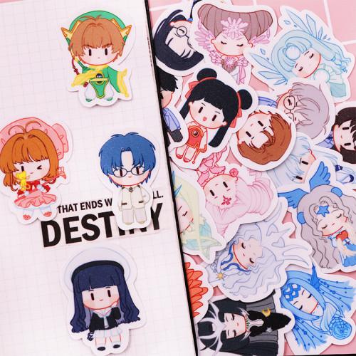 Anime Cardcaptor Sakura Cute Waterproof Stickers