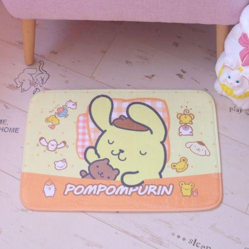 Kawaii Cartoon My Melody Cinnamoroll Pom Pom Purin Anti-slip Carpet