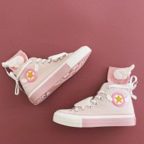 Anime Cardcaptor Sakura Pink Kawaii Canvas Shoes