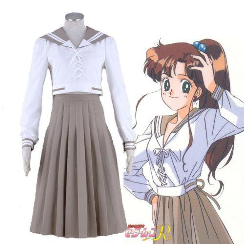 Anime Sailor Moon Kino Makoto Cosplay School Uniform