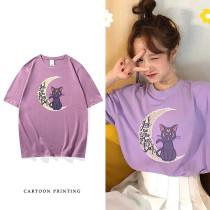 Anime Sailor Moon Short Sleeve T-shirt Summer Loose Cotton Top