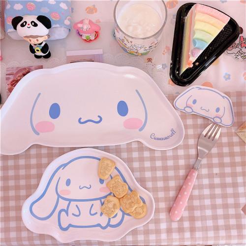 Melamine Tablewares Super Cute Cinnamoroll Dinner Plate Dish Tableware