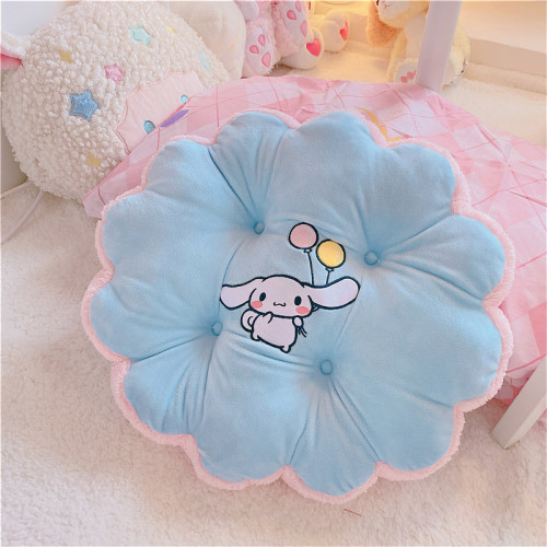 Flower Shape Thickening Plus Coral Fleece Cinnamoroll Cushion Soft Cotton Pillow