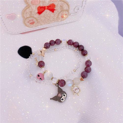 Cute Kuromi Crystal Bracelet Decoration