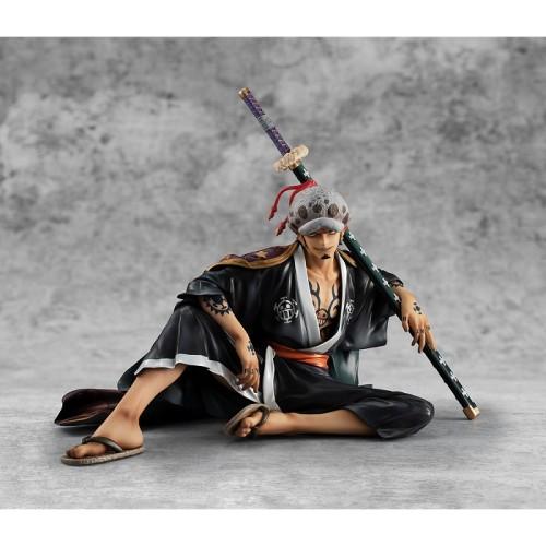 Megahouse Anime One Piece POP Trafalgar Law Kimono Ver. Sitting Posture PVC Figure