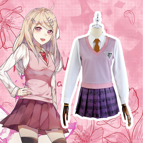 Anime Danganronpa V Akamatsu Kaede Cosplay Costume