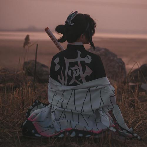 Anime Demon Slayer: Kimetsu No Yaiba Kochou Shinobu Cosplay Costume