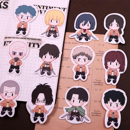 20 Pcs Anime Attack on Titan Levi Ackerman Waterproof Cosplay Stickers