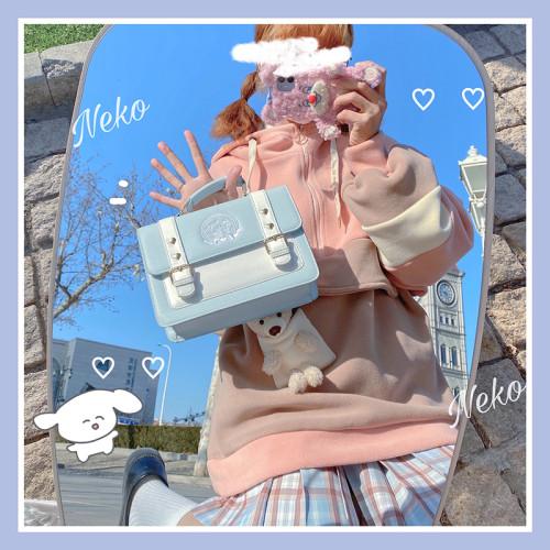 Cute Cat Printed Handbag Sweet Crossbody Bag