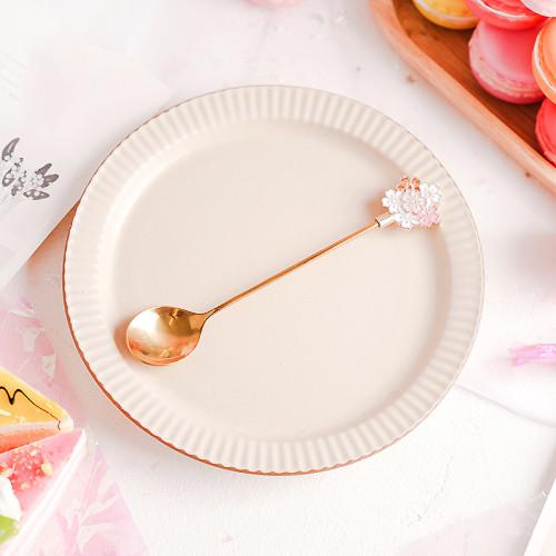 Cherry Blossom Season 304 Stainless Steel Sakura Spoons for Coffee Tea Dessert Drink Spoon Tableware