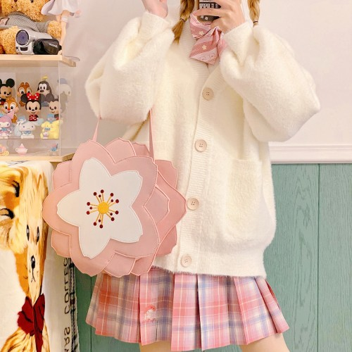 Sweet Lolita Style Cherry Blossom Season Sakura Shoulder Bags Crossbody Bags