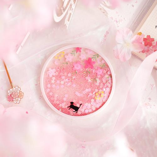 Romantic Cherry Blossom Season Acrylic Sakura and Cat Coasters