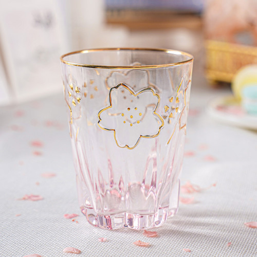 Cherry Blossom Season Kawaii Sakura Glass Mug