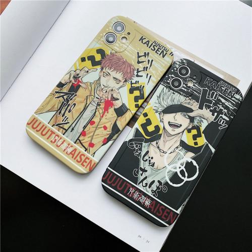 Anime Jujutsu Kaisen Gojo Satoru Ryomensukuna Silicone iPhone Cases