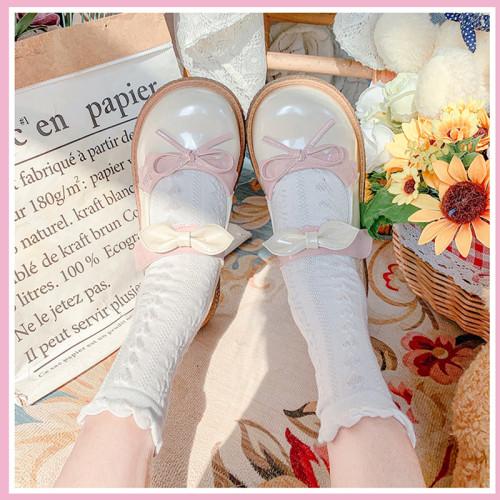 Sweet Bowknot Lolita Flat Platform Shoes
