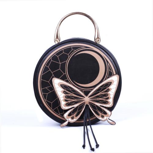 Butterfly and Moon Round Lolita Crossbody Bag Handbags
