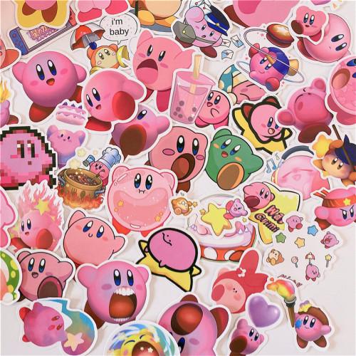 50 Pcs Anime Kawaii Pink Kirby Stickers