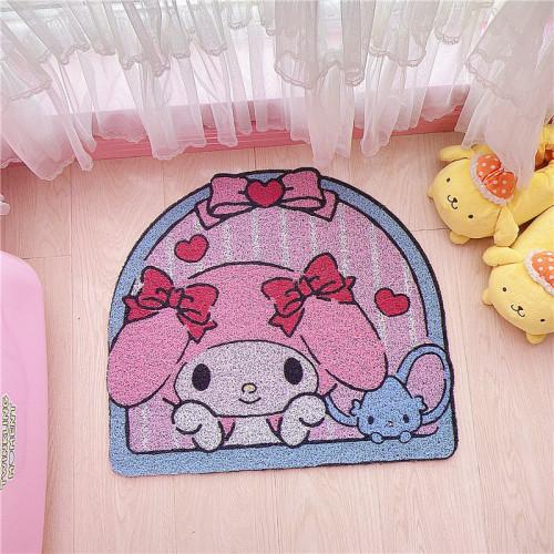 Cute Cartoon Melody Little Twin Stars Cinnamoroll Rubber Carpet Waterproof Doormat