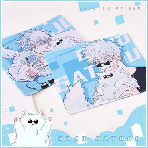 Anime Jujutsu Kaisen Gojo Satoru and Cat Kawaii Mouse Pad