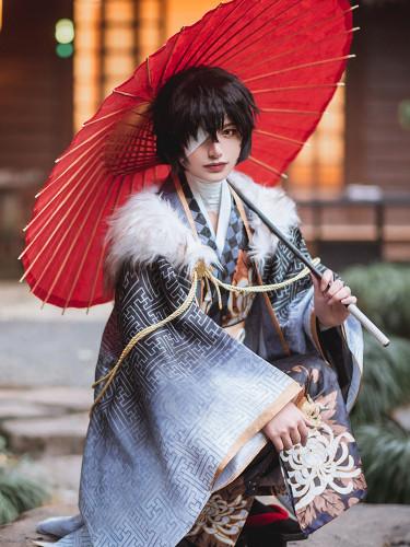 Anime Bungo Stray Dogs Dazai Osamu Kimono Cosplay Costume