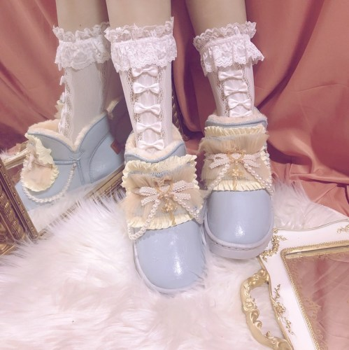 Sweet Lolita Cute Bow Soft Lace Socks