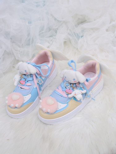 Cute Cartoon Cinnamoroll Lolita Shoes Kawaii Cat Paw Sport Shoes