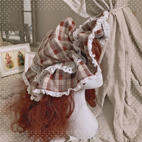 Berry Story Plaid Lolita Hat Sweet Lolita Accessory