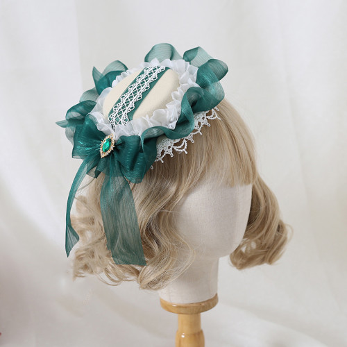 Gorgeous Pearl Lace Bowknot Hat Tea Party Lolita Accessory