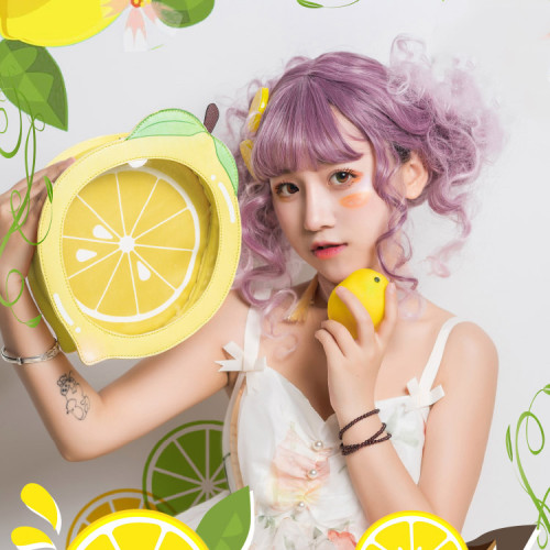 Cute Lemon Shaped Crossbody Bag Sweet Lolita Girl Shoulder Bag