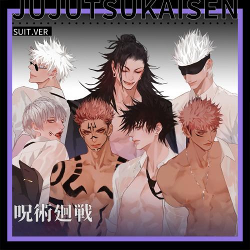 Anime Jujutsu Kaisen Gojo Satoru Geto Suguru Ryomensukuna Fushiguro Megumi Keychain Pendant Acrylic Stand Badge Postcard