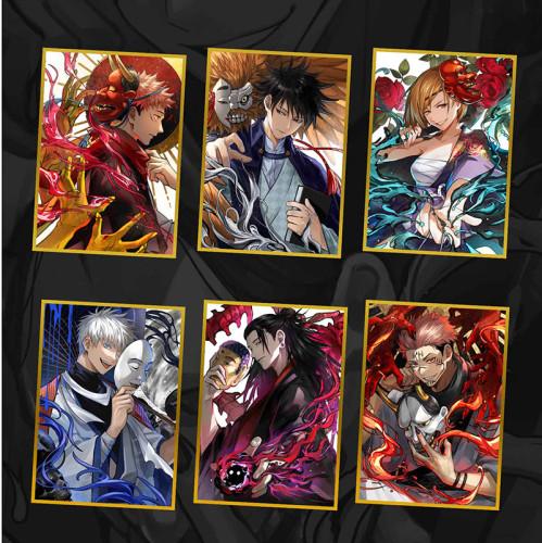 Anime Jujutsu Kaisen Gojo Satoru Fushiguro Megumi Geto Suguru Ryomen Sukuna Keychain Pendants Badges and Colored Paper