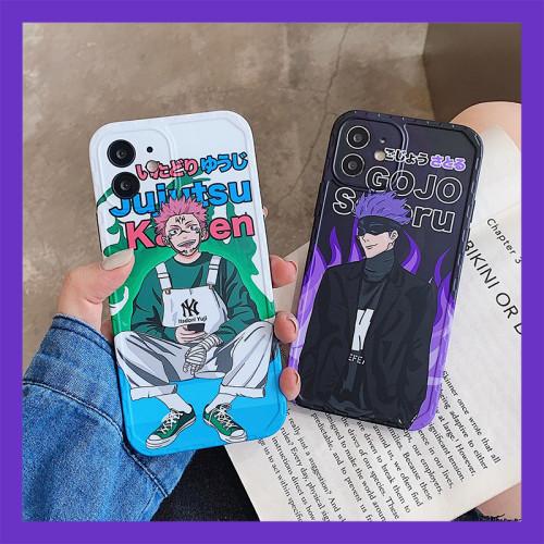 Anime Jujutsu Kaisen Gojo Satoru Ryomen Sukuna Silicone Phone Cases for iPhone