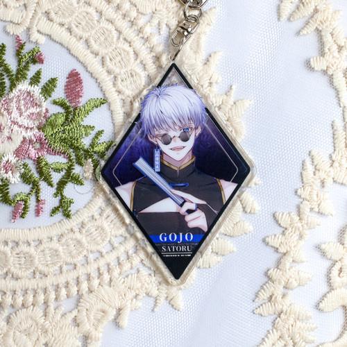 Anime Jujutsu Kaisen Gojo Satoru X Kugisaki Nobara Cute Keychain Pendants
