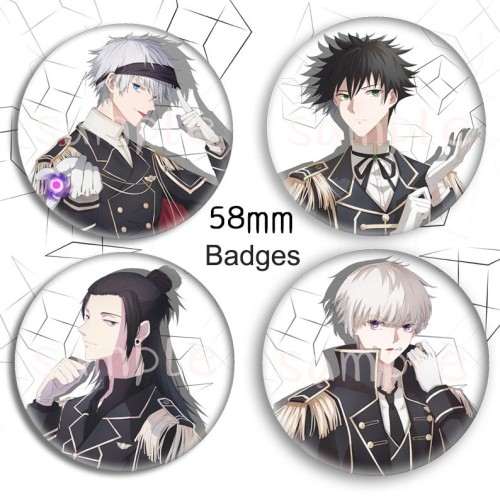 Anime Jujutsu Kaisen Gojo Satoru Geto Suguru Fushiguro Megumi Inumaki Toge Cool Badges and Keychain Pendants
