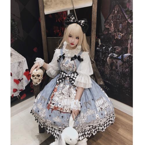Alice in Wonderland Lace Bowknot JSK Summer Lolita Dress