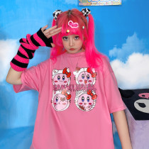 Harajuku Fashion Cute Print Loose Summer Short Sleeve T-shirt