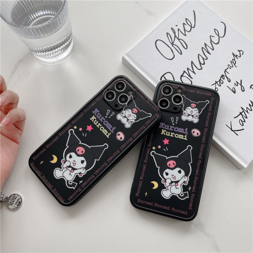 Cute Cartoon Kuromi Black Phone Cases for iPhone Protective Cover