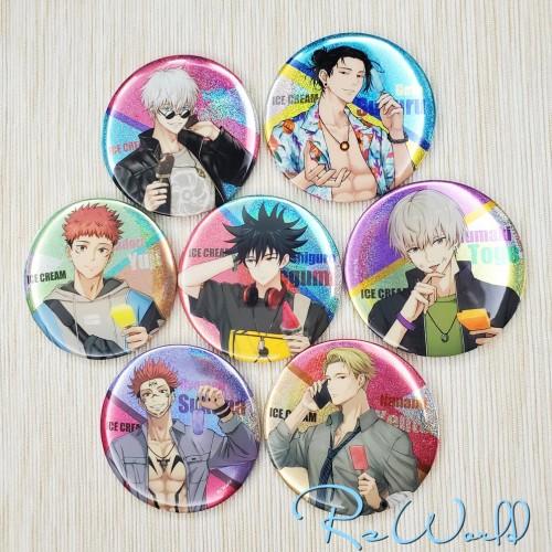 Anime Jujutsu Kaisen Ryomen Sukuna Inumaki Toge Nanami Kento Acrylic Keychain Pendants Badge and Postcards Ice Cream Ver.
