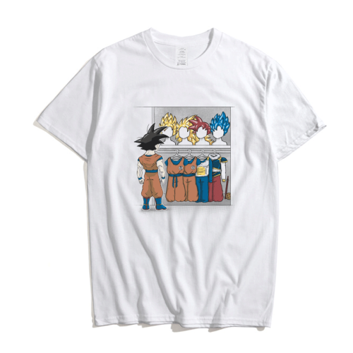 Anime Dragon Ball Z Super Saiyan Goku Print Summer T-shirt